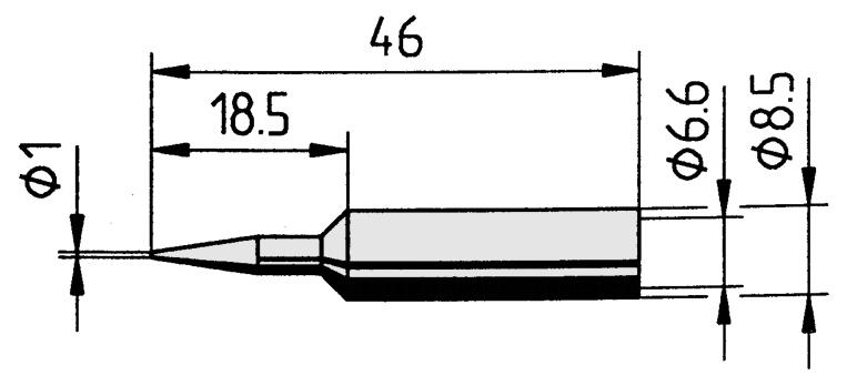 ERSA-832YD Tip chisel 1.6mm  ERSA