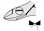 EREM - 2412E - ESD side cutter, oval, WL23080
