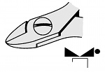 EREM - 2432E - ESD-Seitenschneider, oval, WL23082