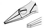 EREM - 2442P - ESD flat nose pliers, fine, WL23092