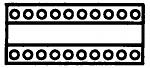 WELLER - T0054418199 - HT desoldering head, 2 x 10-pin, WL16513