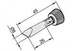ERSA - 102CD-LF080C - Lötspitze für i-CON, meißelförmig, gerade, WL25465
