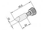 ERSA - 102CD-LF100 - Lötspitze für i-CON, meißelförmig, gerade, WL23370