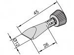 ERSA - 102CD-LF120C - Lötspitze für i-CON, meißelförmig, gerade, WL24819