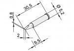 ERSA - 102CD-LF20 - Lötspitze für i-CON, meißelförmig, gerade, WL22884