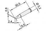 ERSA - 102CD-LF24 - Lötspitze für i-CON, meißelförmig, gerade, WL22885