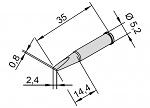 ERSA - 102CD-LF24L - Lötspitze für i-CON, meißelförmig, gerade, WL24293