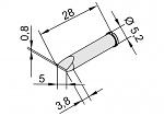ERSA - 102CD-LF50 - Lötspitze für i-CON, meißelförmig, gerade, WL22887