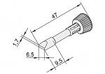 ERSA - 102CD-LF65 - Lötspitze für i-CON, meißelförmig, gerade, WL23371