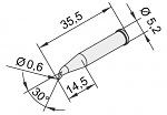 ERSA - 102SD-LF06L - Lötspitze für i-CON, bleistiftspitz, gebogen, WL23374