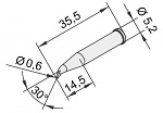 ERSA - 102SD-LF06L - Soldering tip for i-CON, WL23374