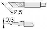 JBC - C105-112 - Löt-/Entlötspitze für Nano, messerförmig, gerade, WL26231