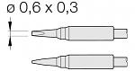 JBC - C105-108 - Löt-/Entlötspitze für Nano, meißelförmig, gerade, WL25669