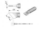 JBC - C105-211 - Löt-/Entlötspitze für Nano, klingenförmig, abgeschrägt, WL29028