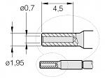 JBC - C210-017 - Lötspitze für T210-A / T210-NA, Sonderform, WL26233