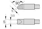 JBC - 2245-761 / C245-761 - Lötspitze für T245, 3 x 1 mm, gebogen (de), WL28050