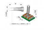 JBC - C105-125 - Löt-/Entlötspitze für Nano, meißelförmig, gerade, WL35496