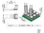 JBC - C120-013 - Entlötspitze für PA120-A, 2 mm, klingenförmig (de), WL45192