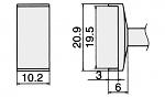 HAKKO - T12-1008 - Lötspitze für FM-2027 / FM-2028, WL23169
