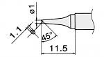 HAKKO - T12-BCF1 / T15-BCF1 - Lötspitze für FM-2027 / FM-2028, rund, abgeschrägt, WL22948