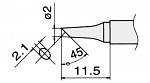 HAKKO - T15-BCF2 - Lötspitze für FM-2027 / FM-2028, rund, abgeschrägt, WL22949