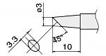 HAKKO - T12-BCF3 / T15-BCF3 - Lötspitze für FM-2027 / FM-2028, rund, abgeschrägt, WL22950