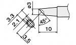 HAKKO - T12-BCM3 / T15-BCM3 - Lötspitze für FM-2027 / FM-2028, Sonderform, abgeschrägt, WL23140
