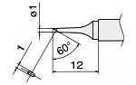 HAKKO - T12-C1 / T15-C1 - Lötspitze für FM-2027 / FM-2028, rund, schlank, abgeschrägt, WL22951