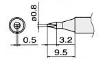 HAKKO - T15-D08 - Lötspitze für FM-2027 / FM-2028, meißelförmig, WL22954