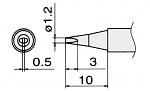 HAKKO - T15-D12 - Lötspitze für FM-2027 / FM-2028, meißelförmig, WL22918
