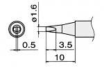 HAKKO - T12-D16/T15-D16 - Lötspitze für FM-2027 / FM-2028, meißelförmig, WL22828
