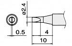 HAKKO - T15-D24 - Lötspitze für FM-2027 / FM-2028, meißelförmig, WL22842