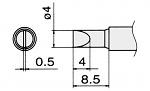 HAKKO - T12-D4 / T15-D4 - Lötspitze für FM-2027 / FM-2028, meißelförmig, WL22955