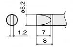 HAKKO - T15-D52 - Lötspitze für FM-2027 / FM-2028, meißelförmig, WL22956