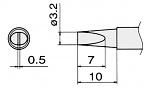 HAKKO - T15-DL4 - Lötspitze für FM-2027 / FM-2028, meißelförmig, WL25428
