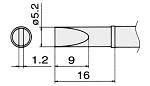 HAKKO - T12-DL52 / T15-DL52 - Lötspitze für FM-2027 / FM-2028, meißelförmig, WL22962