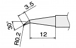 HAKKO - T12-J02 / T15-J02 - Lötspitze für FM-2027 / FM-2028, spitz, gewinkelt, WL22827