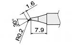 HAKKO - T15-JS02 - Lötspitze für FM-2027 / FM-2028, spitz, gewinkelt, WL22941