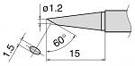 HAKKO - T15-BC12 - Lötspitze für FM-2028, abgeschrägt, WL27365