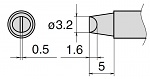 HAKKO - T15-D32 - Lötspitze für FM-2027/FM-2028, meißelförmig, WL27508