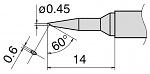 HAKKO - T15-SBC04 - Lötspitze für FM-2027/FM-2028, spitz, abgeschrägt, WL27648