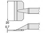 HAKKO - T8-1010 - Entlötspitzenpaar für FM-2022, WL23414
