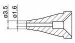 HAKKO - N60-04 - Desoldering nozzle for FR 400-10, D inner = 1.6 mm, WL43850