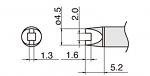 HAKKO - T15-R20 - Lötspitze für FM-2027/FM-2028, Sonderform, WL39880