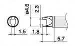 HAKKO - T15-R23 - Lötspitze für FM-2027/FM-2028, Sonderform, WL39881