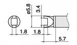 HAKKO - T15-R34 - Lötspitze für FM-2027/FM-2028, Sonderform, WL39882