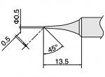 HAKKO - T18-C05 - Soldering tip for FX 888D, WL33844