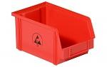 WARMBIER - 5321.R.3Z - ESD-Sichtlagerkasten, rot, WL37025