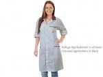 WARMBIER - 2618.AM160.G.XS - ESD lab coat grey/black, XS, WL39672