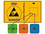 WARMBIER - 2850.6035.20.E - Aufkleber ESD-Prüfung 2020, englisch, WL45193